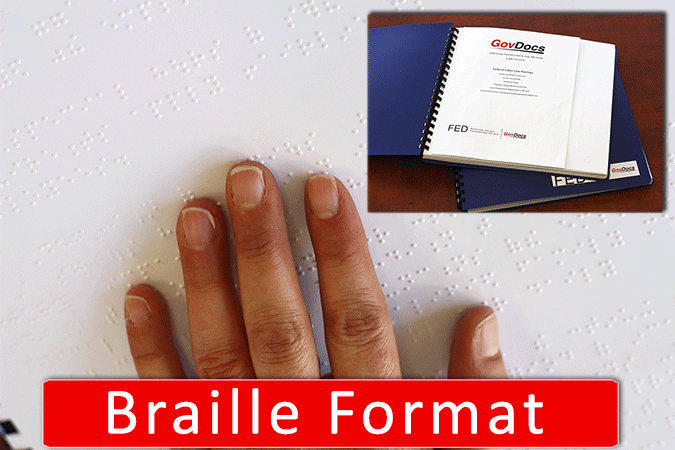 Braille Federal Workplace Postings