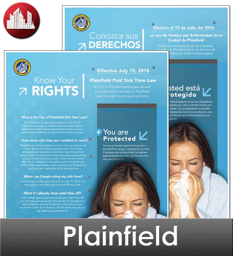 Plainfield City Laminated Workplace Poster Package
