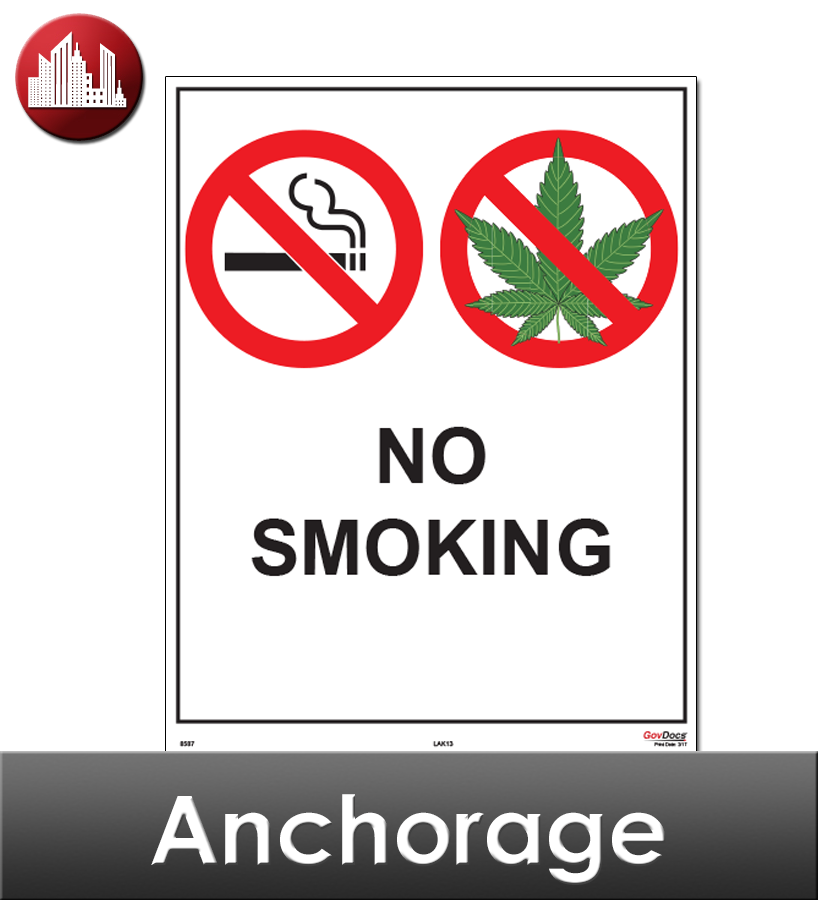 Anchorage, AK Laminated City Workplace Poster Package