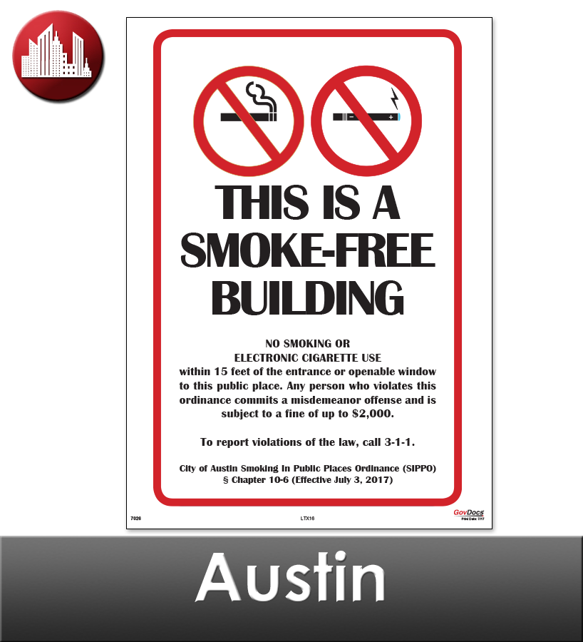 Austin Laminated City Workplace Poster Package