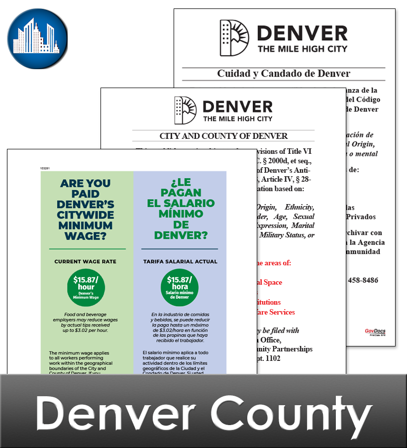Denver City Laminated Workplace Poster Package