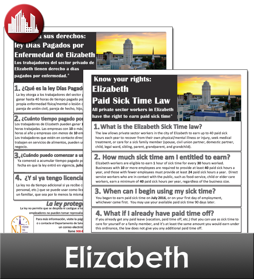 Elizabeth, NJ Laminated City Workplace Poster Package