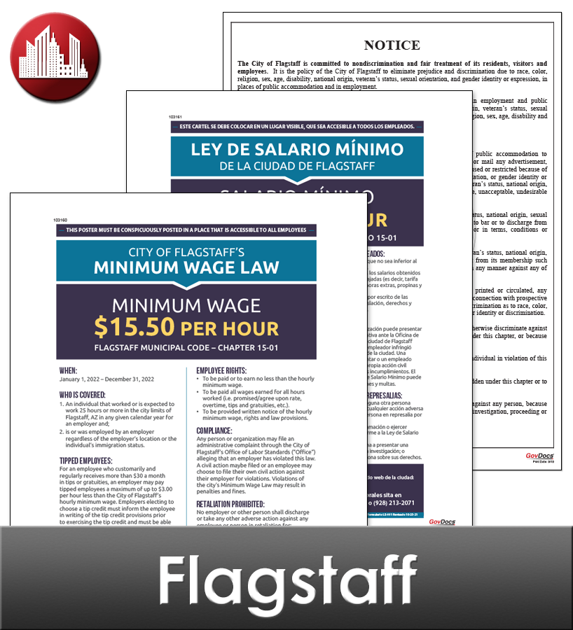 Flagstaff City Laminated Workplace Poster Package