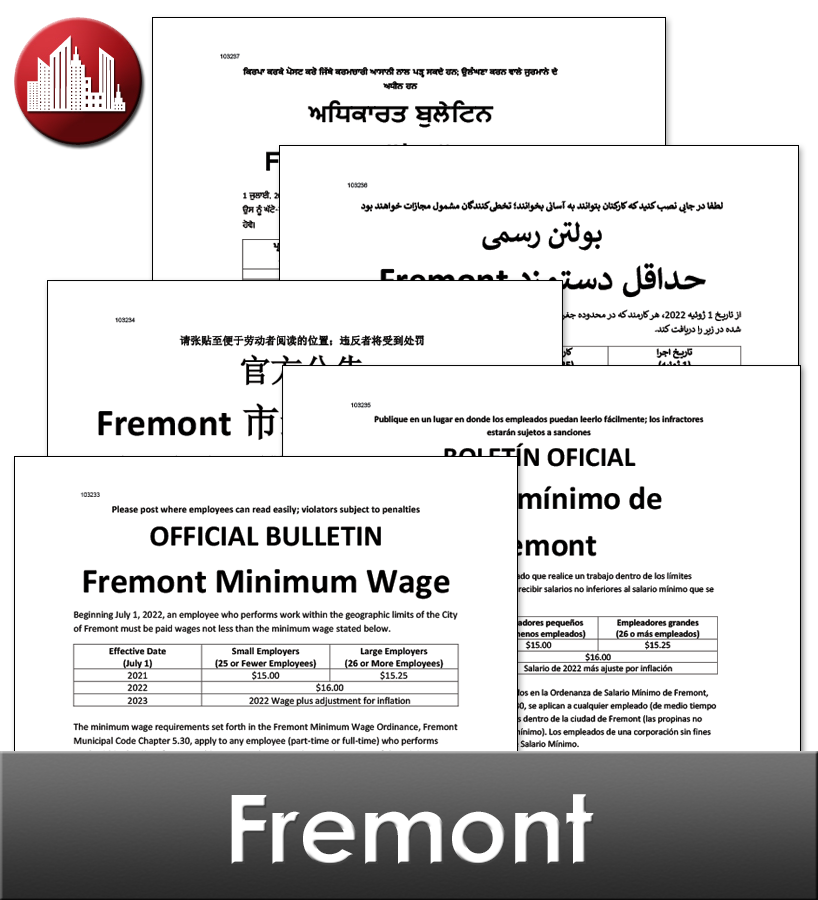 Fremont NE City Laminated Workplace Poster Package