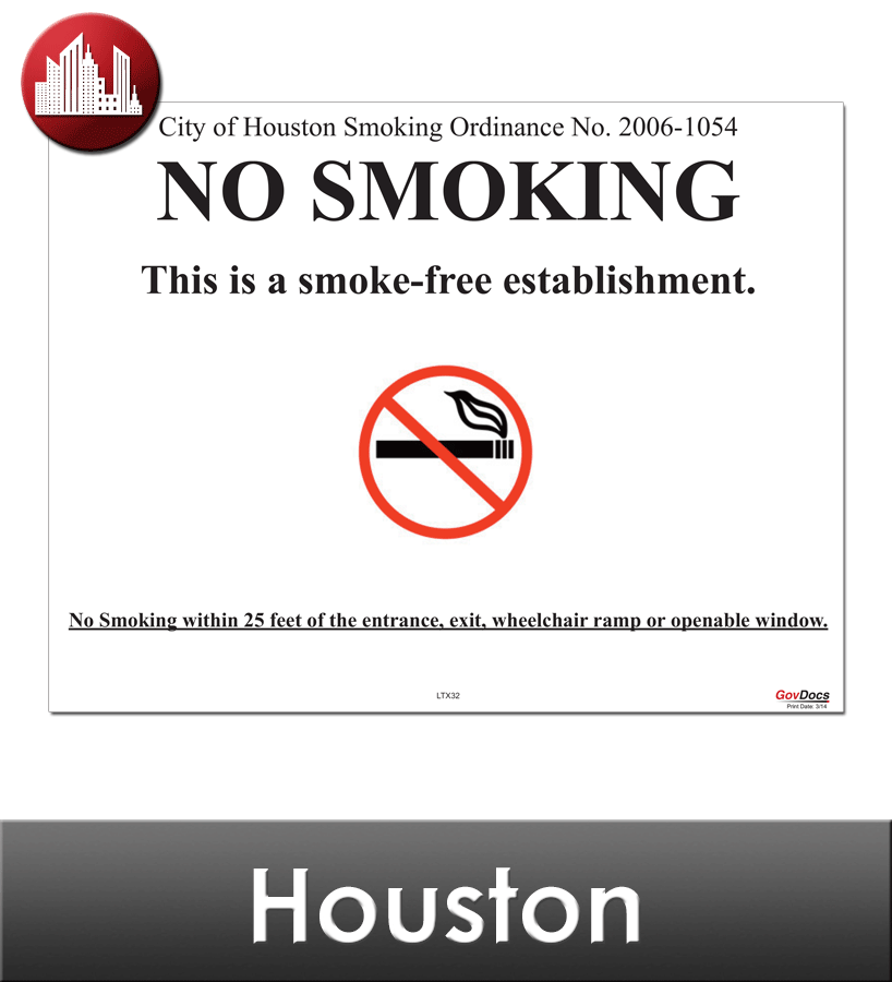 Houston Laminated City Workplace Poster Package