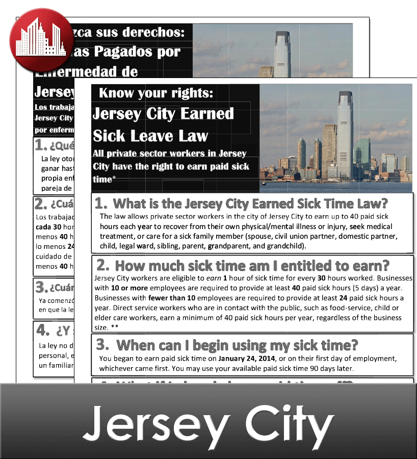 Jersey City Laminated City Workplace Poster Package
