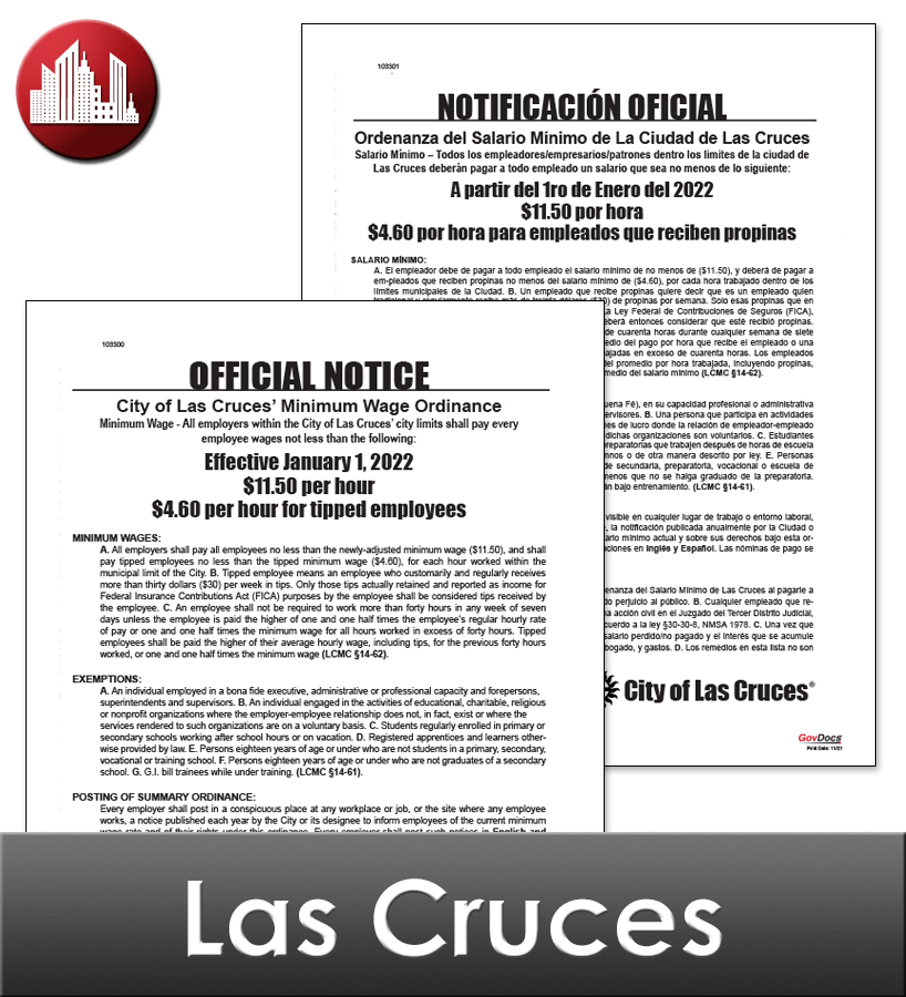 Las Cruces Laminated City Workplace Poster Package