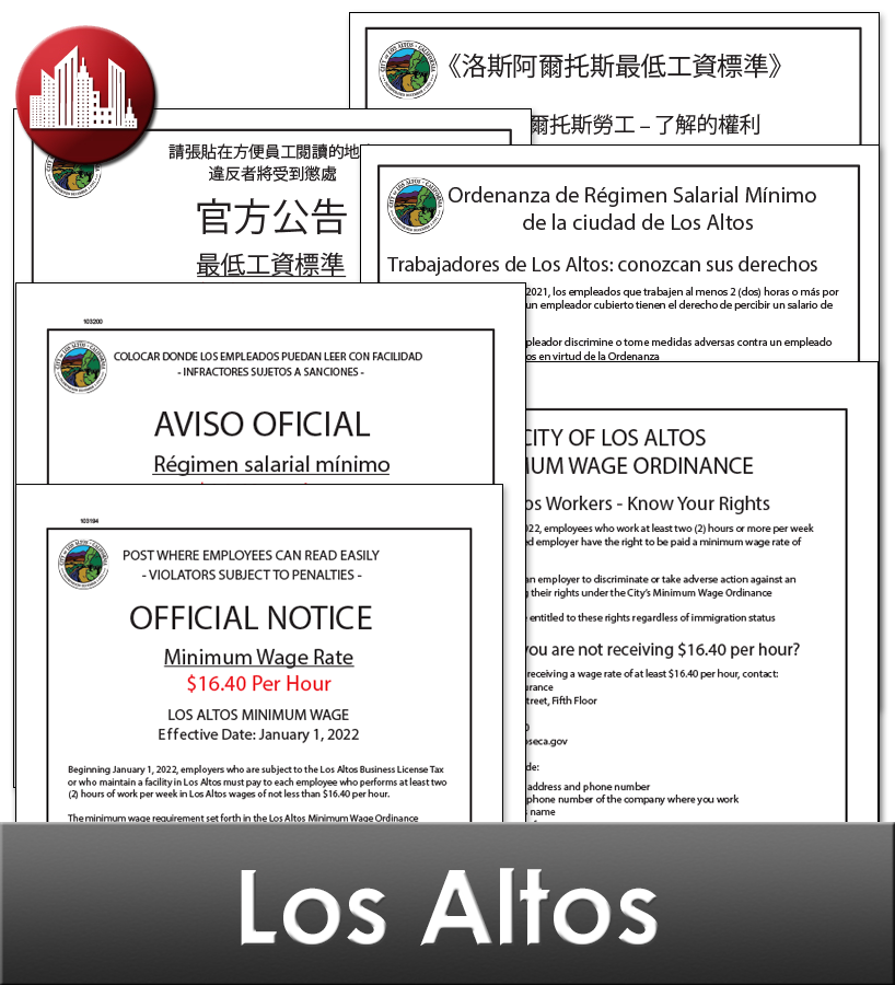 Los Altos City Laminated Workplace Poster Package