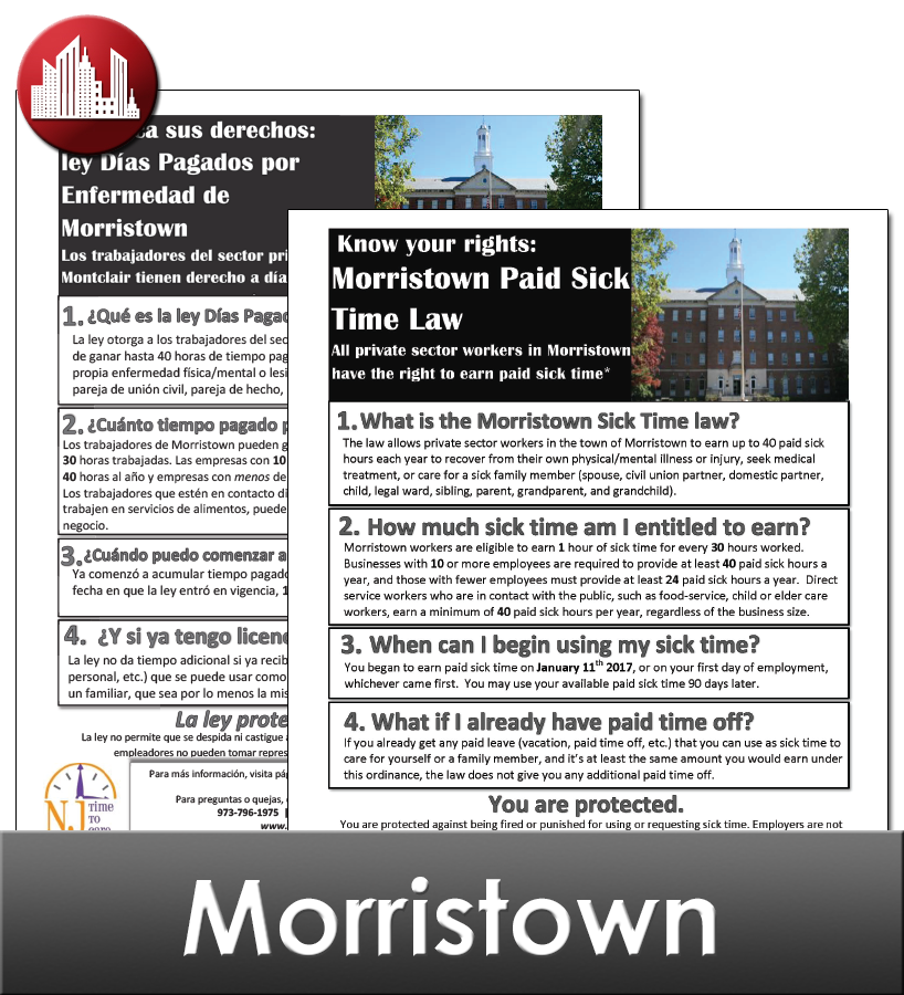 Morristown City Laminated Workplace Poster Package