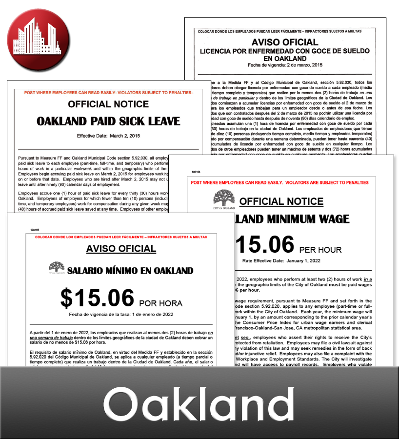 Oakland Laminated City Workplace Poster Package