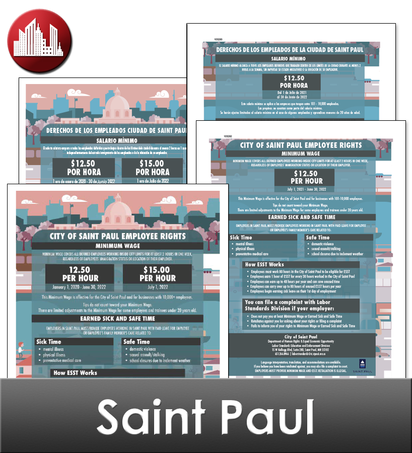 St. Paul City Laminated Workplace Poster Package