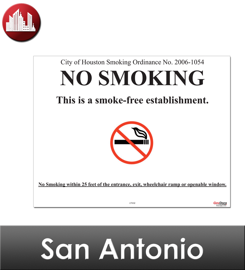 San Antonio Laminated City Workplace Poster Package