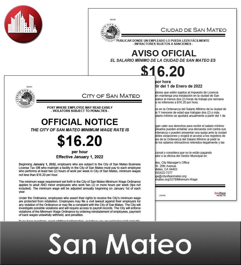 San Mateo Laminated Workplace Poster Package