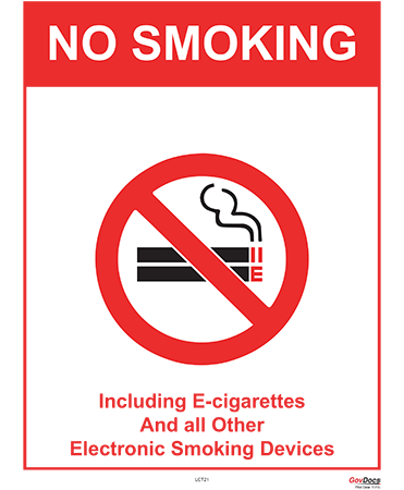Connecticut No Smoking Poster