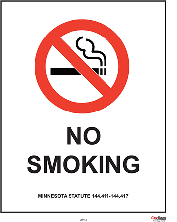 Minnesota No Smoking Poster