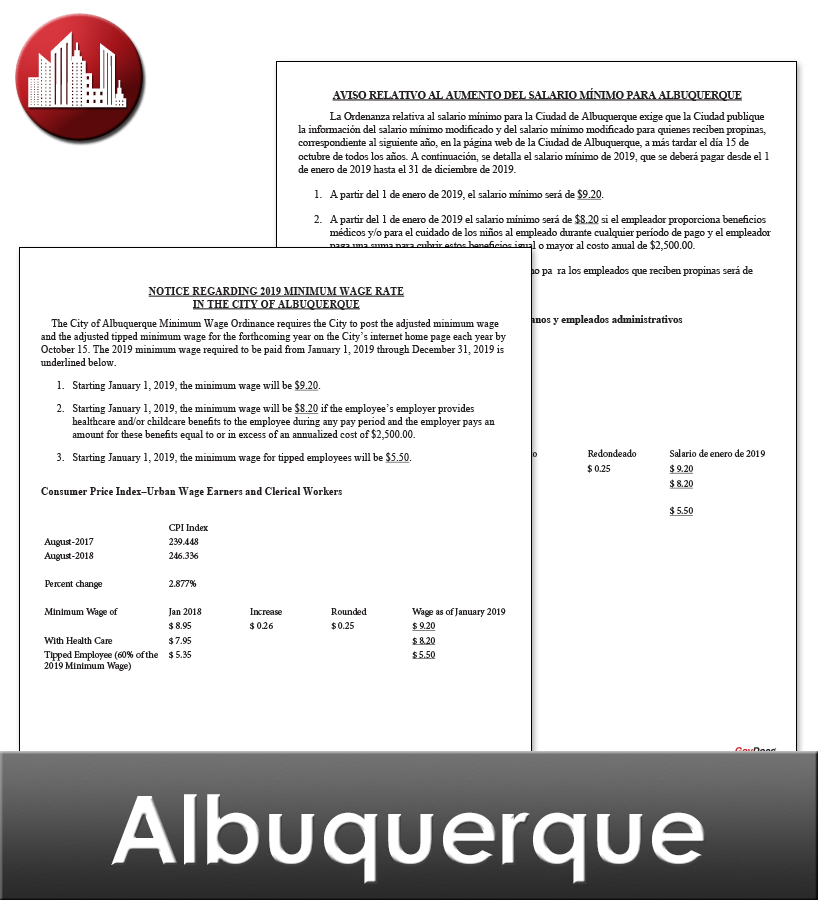 Albuquerque Laminated City Workplace Poster Package