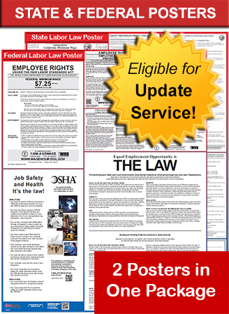 Colorado and Federal Laminated Poster Package
